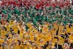 Masinis šokis subūrė 700 dalyvių