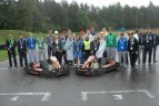 """""""Plytinės"""" kartodrome Vilniuje surengtas kartingo turnyras, skirtas Tarptautinei vaikų gynimo dienai."""