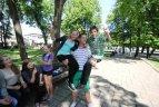 Kultūristo D. Dubino treniruotė su vaikais