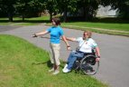 Neįgalioji lengvaatletė I. Perminienė tapo šiaurietiškojo ėjimo instruktoriaus asistente