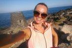 """Grupės """"69 danguje"""" narė Ingrida Martinkėnaitė bėgioja, stengdamasi neatkreipti į save dėmesio"""